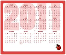 Free Calendar For 2011 Stock Photo - 16573280