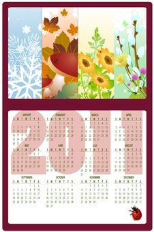 Free Calendar For 2011 Royalty Free Stock Images - 16573399