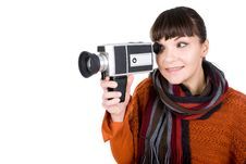 Free Woman With Camera Stock Images - 16573474