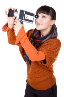 Free Woman With Camera Royalty Free Stock Photo - 16573475