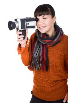 Free Woman With Camera Stock Photography - 16573492
