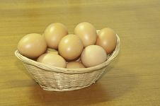 Free The Basket Of Eggs Royalty Free Stock Image - 16573846