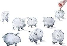 Free Glass Piggy Banks Royalty Free Stock Photo - 16574425