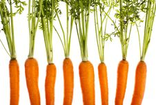 Carrots, Completely Isolated Royalty Free Stock Images