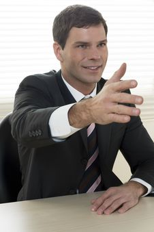 Free Businessman Ready To Shake Hands Stock Photos - 16574483