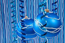 Free Blue Christmas Decoration Stock Photography - 16574922