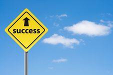 Free Sign Arrow Success. Stock Photography - 16575102