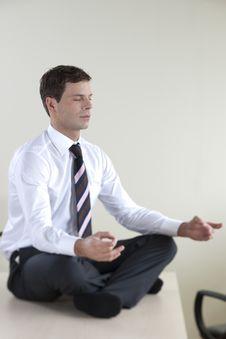Business Meditation Royalty Free Stock Photo