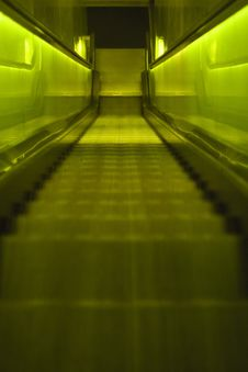Free Green Escalator Royalty Free Stock Photo - 16575405