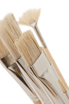 Free Artist Brush Selection. Royalty Free Stock Image - 16576196