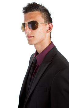 Free Young Trendy Businessman With Sunglasses Stock Photo - 16576230