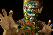 Free Painted Man Stock Image - 16576651