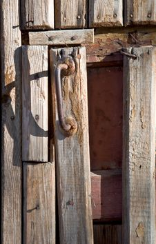 Door With A Handle Royalty Free Stock Photos