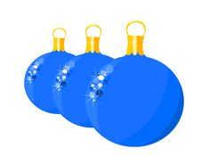Blue Glass Balls Royalty Free Stock Image