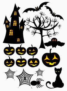 Free Halloween  Elements Royalty Free Stock Photo - 16578115