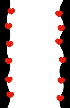 Hearts & Border Stock Photo