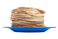Free Pancakes On Plate Royalty Free Stock Image - 16578716