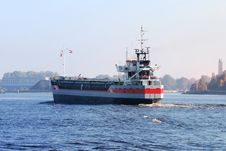 Free Cargo Ship Arriving In Port Stock Photo - 16579000