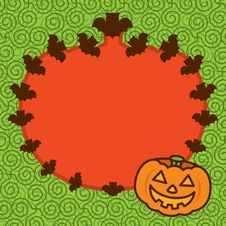 Free Halloween Pumpkin Frame Background Royalty Free Stock Photo - 16579665