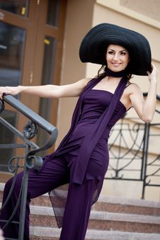 Free Lady In The Hat Stock Photos - 16579783