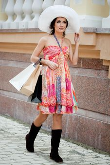 Free Woman With Shopping Bags Stock Photo - 16579830
