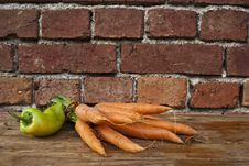 Free Carrots And Peppers Stock Image - 16579841