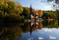 Free Autumn Castle Mirrored On River Stock Photography - 16581932