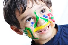 Free Messy Cute Kid Stock Image - 16580461