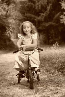 Free Girl On Bicycle Stock Photos - 16580563