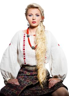 Free Woman In National Costume Royalty Free Stock Photography - 16580737