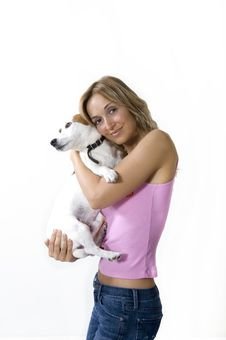Free Woman And Her Dog Royalty Free Stock Photo - 16580775
