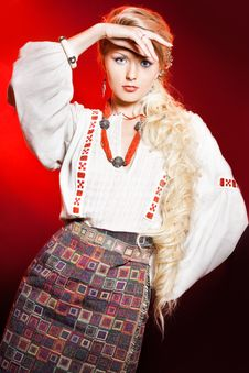 Free Woman In National Costume Royalty Free Stock Photography - 16580777