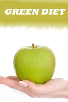 Free Green Apple In A Beautiful Hand Of Woman Stock Photos - 16580783
