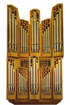 Free Isolated Church Organ Stock Photography - 16580802