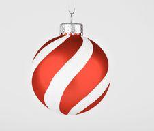 Free Striped Xmas Ornament Royalty Free Stock Photo - 16580945