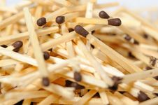 Background Of Many Brown Matches Stock Image