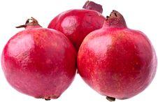 Free Three Ripe Pomegranates Stock Images - 16581444