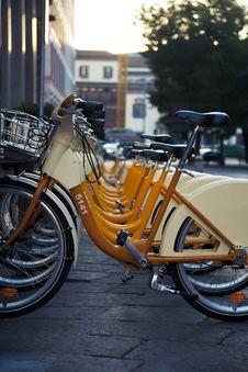 Free Rental Bicycles Stock Image - 16582101
