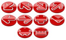 Free Red Arrow Sign Web 2.0 Internet Buttons. Stock Image - 16582411