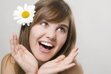 Free Woman With Camomile Stock Photos - 16583133