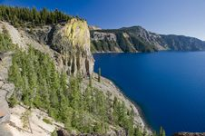 Crater Lake Volcano In Oregon Royalty Free Stock Photography