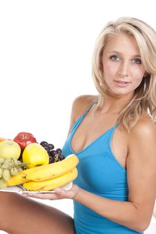 Free Blue Top Fruit Plate Smile Royalty Free Stock Photo - 16583715