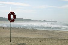 Free Lifebuoy On Beach Stock Photo - 16583970