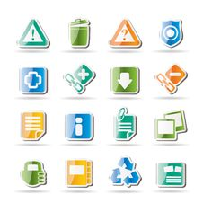 Free Web Site And Computer Icons Royalty Free Stock Photography - 16584347