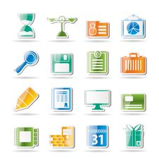 Free Business And Office Icons Stock Photos - 16584363