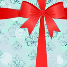 Free Christmas Background With A Red Bow. Eps10 Stock Image - 16585391