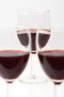 Free Three Glasses Of Wine Royalty Free Stock Images - 16585619