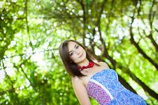 Free Girl By The Greenery Royalty Free Stock Photography - 16585647
