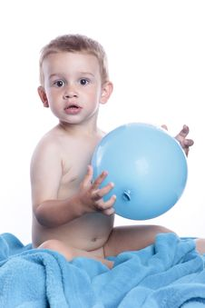 Little Boy With Baloon Royalty Free Stock Photography