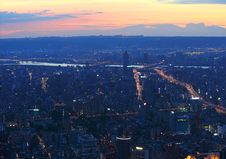 Free Taipei.Panoramic City Skyline At Sunset Stock Images - 16586064